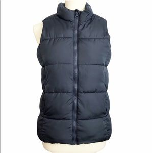 Old Navy Frost Free Gray Puffer Vest Girls XL 14